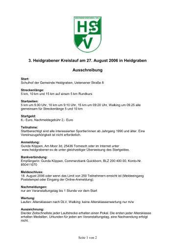 Ausschreibung im PDF-Format - Heidgrabener Sportverein von ...