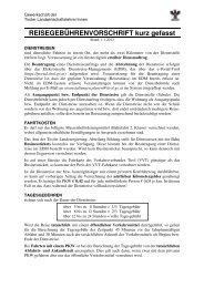 Reisegebührenvorschrift kurz gefasst - pv-landwirtschaftslehrer.tsn.at