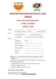 registration for asia-pacific juice forum held at the four seasons hotel ...