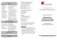 Öffentliche Finanzordnung und Steuerrecht - IIFS