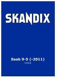 SKANDIX Catalog: Saab 9-5 (-2011)