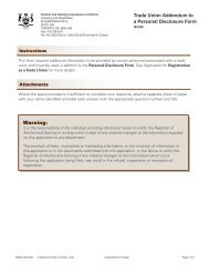 (6082) Trade Union Addendum to a Personal Disclosure Form ...