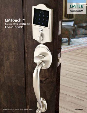 EMTouch™ Classic Style Electronic Keypad Locksets - Emtek