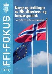 Nr. 3: Norge og utviklingen av EUs sikkerhets- og forsvarspolitikk