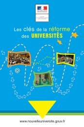 des universites - Ministère de l'enseignement supérieur et de la ...