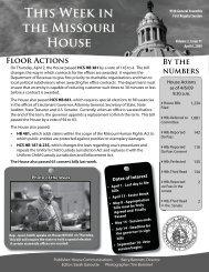 April 6, 2009 - Missouri House of Representatives