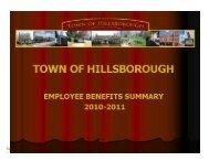 town of hillsborough employee benefits summary 2010-11