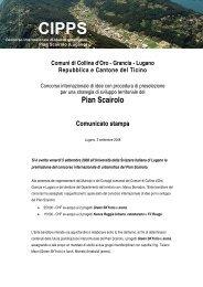 Comuni di Collina d'Oro - Grancia - Pian Scairolo