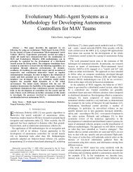 Evolutionary Multi-Agent Systems as a Methodology ... - Fabioruini.eu
