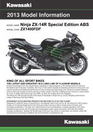 Model Information 2013 ZX1400FDFA - Kawasaki New Zealand