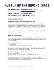 Daily Schedule of Programs, December 8, 2011 - January 1, 2012