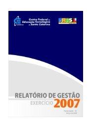 Relatório de Gestão 2007 - Wiki do IF-SC