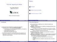 TOCI-08: Segurança de Redes Roteiro Introduç ... - WWW2 - Udesc