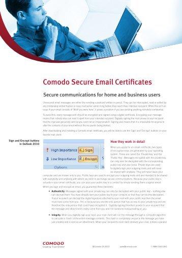 Comodo Secure Email Certificates - SSL Certificate