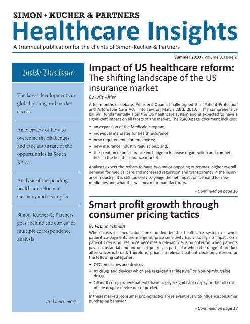 Smart profit growth through consumer pricing tactics Impact
