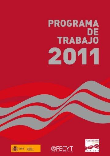 Programa de Trabajo 2011 - Madri+d
