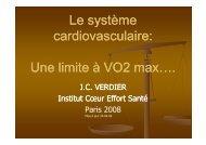 Une limite à VO2 max…. - Club des Cardiologues du Sport