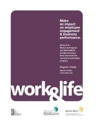 Health and Wellness Programs - Alliance for Work-Life Progress