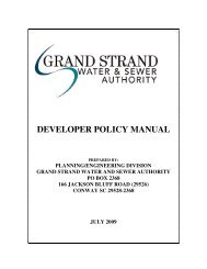 developer policy manual - Grand Strand Water and Sewer Authority