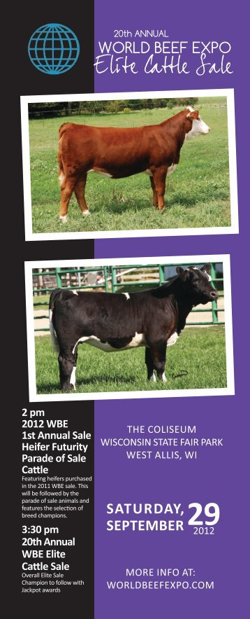 Click here for the 2012 Elite Sale Catalog - the World Beef Expo