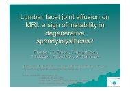 Lumbar facet joint IMAGING