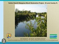 Harbor Branch Mangrove Marsh Restoration Project, St Lucie ...