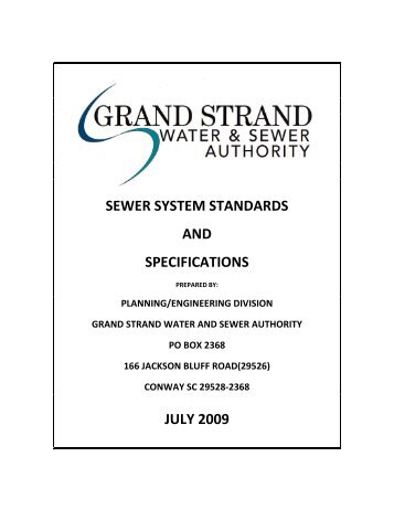 2030 Plan Grand Strand Water And Sewer Authority