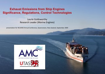 Exhaust Emissions from Ship Engines - Maritime Law Association of ...