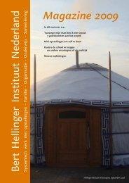 Magazine 2009 (pdf) - Bert Hellinger Instituut Nederland