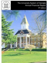 Fiscal Year 2011 - University System of Georgia