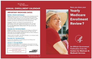 informational flyer about open enrollment - Community Partners