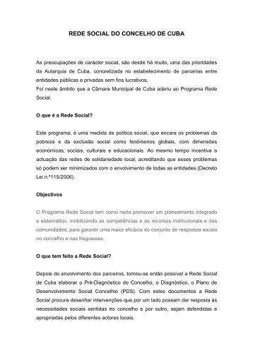 Introdução Rede Social - 1 - Câmara Municipal de Cuba