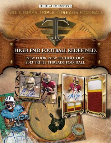 2013 Topps Triple Threads Football Color Sell Sheet - Magazine ...