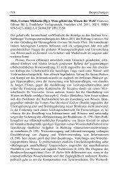 516 Besprechungen Flick, Corinne Michaela (Hg.): Wem ... - Convoco