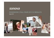 ROADSHOW | FULL-YEAR 2011/12 RESULTS - Sonova