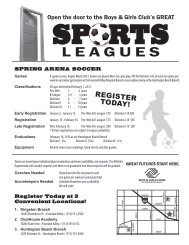 to see our 2013 Spring Sports Flyer! - Boys and Girls Clubs of ...