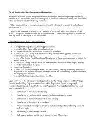 Permit Application Requirements and Procedures - Village of ...