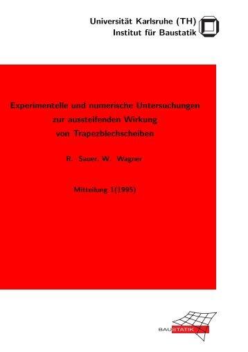Experimentielle und numerische Untersuchungen zur aussteifenden ...