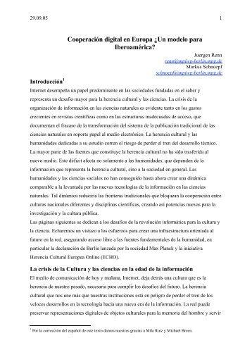 Cooperación digital en Europa ¿Un modelo para Iberoamérica?