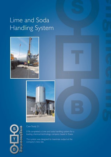 Lime and Soda Handling System - STB Engineering Ltd