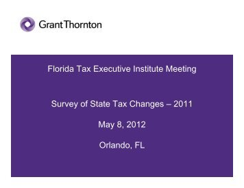 Survey of State Tax Changes - Tax Executives Institute, Inc.