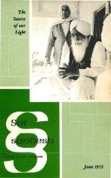 Jun - KIRPAL SINGH: His Mission, Teachings