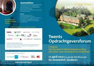 Twents Opdrachtgeversforum - Stichting Pioneering