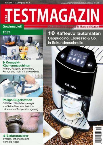 10 Kaffeevollautomaten - Grundig