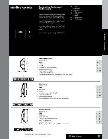 Kraftmaid 057 Molding Accents - Roberts Company, Inc.