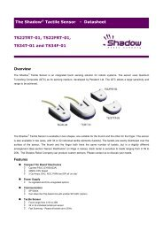 Shadow Tactile Sensors - Final Datasheet - Romheld