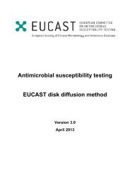 Antimicrobial susceptibility testing EUCAST disk diffusion method