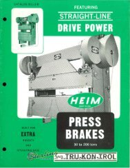 heim press brakes 30 to 200 ton catalog b11.3c brochure - Sterling ...