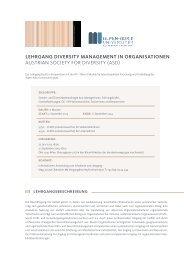 LEHRGANG DIVERSITY MANAGEMENT IN ORGANISATIONEN ...