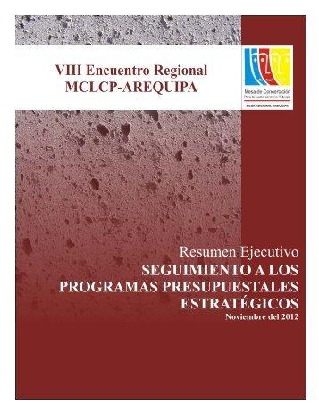 VIIV ENCUENTRO REGIONAL - Mesa de Concertación para la ...